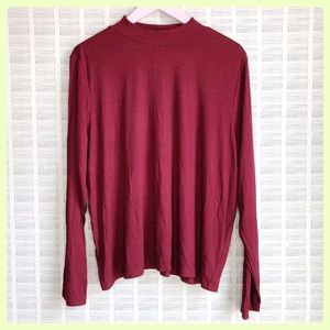 NWT Elouquii Red Mock Turtle Neck